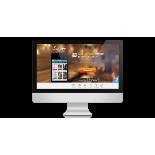 Web Site design for a mobile app