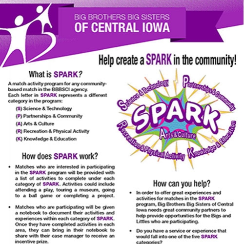 BBBSCIA SPARK Program Flyer